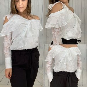 Tops - One Shoulder Ruffled Blouse